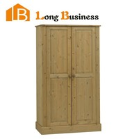LB-DD3054 Pine wood folding wardrobe with double doors design