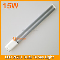 15w 4 pin pl pll lamp 2835 smd 2g11 led tube fpl replacement dual tubes 2G11 lamp
