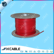 paper reel packing 4 core round unshielded bare copper red jacket telephone cable