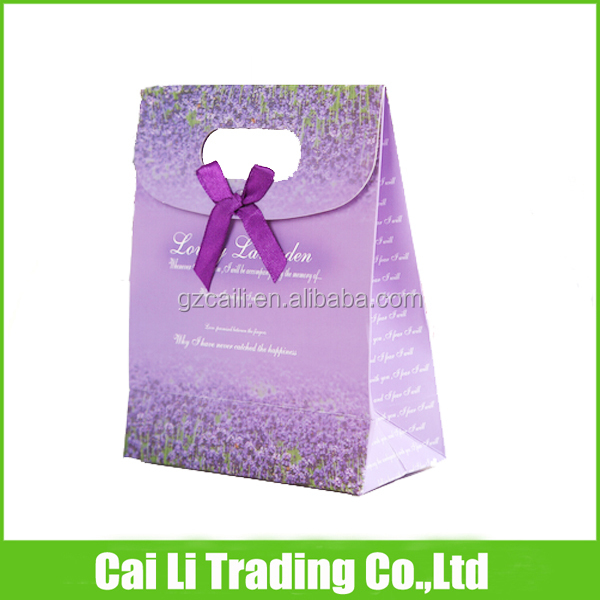 ribbon on top wedding candy use recycle paper bag