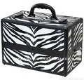 NEW! Black Zebra Makeup Train Case