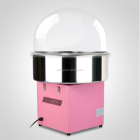 COMMERCIAL COTTON CANDY MACHINE FLOSS MAKER + COVER ELECTRIC PINK CART WHOLESALE