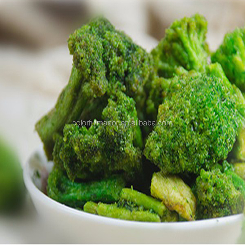 Healthy broccoli chips / crisp , VF vegetable and fruit chips snacks