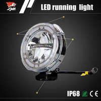 Best selling auto drl OEM Aluminum LED 8 inch motorcycle headlight