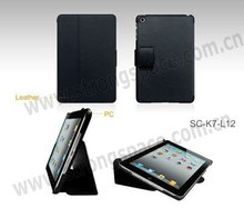 black for ipad mini leather case with belt