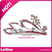 Hot Seller Colorful Rhinestone Plastic Wholesale Crowns and Tiaras Wholesale Pageant Crowns and Tiaras Christmas Tiaras