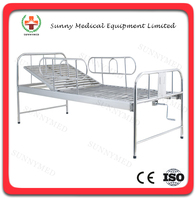 SY-R011 Hospital Stainless Steel Bed One Crank Manual Hospital Bed Price