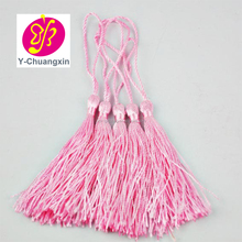 Wholesale small Pink Charm Bookmark Silk Tassel For Jewelry Accessories