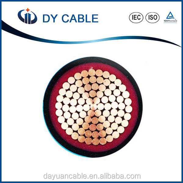 0.6/1KV compacted round shaped copper wire armoured xlpe insulation power cable