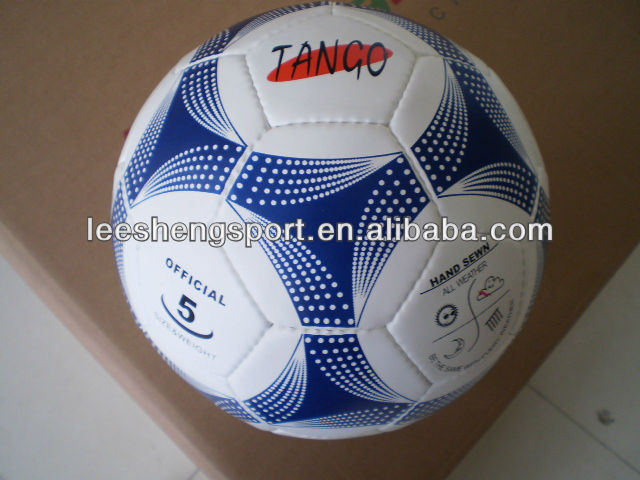 Cow leather football soccer ball