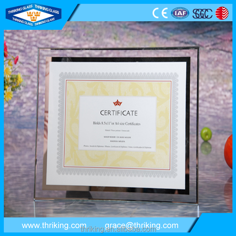 New design 6mm beveled edge ultra clear glass photo frame