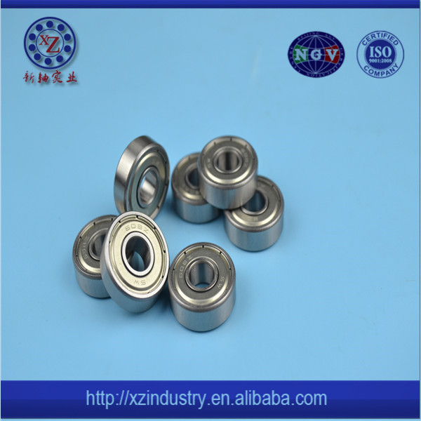 China supply high performance miniature Skateboard abec 5 zz809 ball bearing