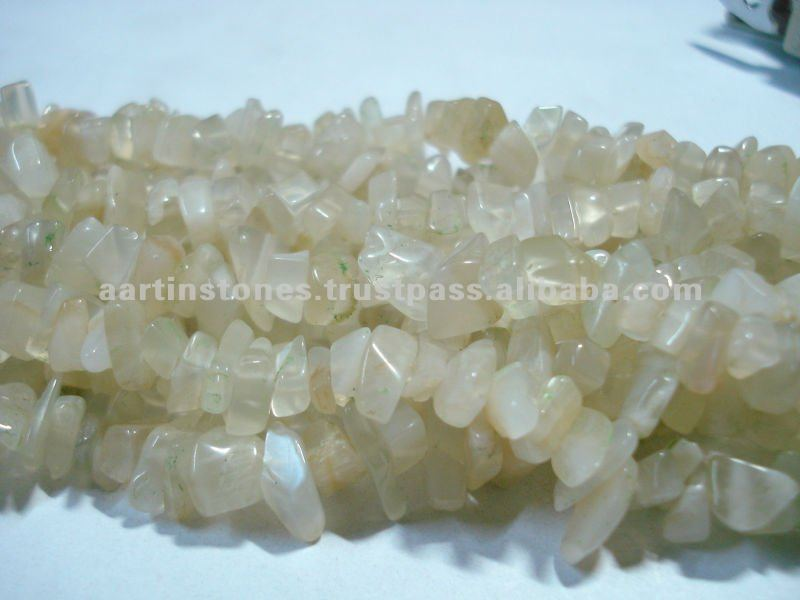 Moonstone Natural Gemstone Chip Beads