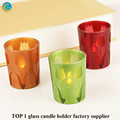 Laser tulips glass candle holder for Valentine's day