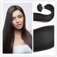 2016 Hot Selling Fast shipping 16inch large Stock 100% human hair natural black body wave #1B virgin hair free shipping