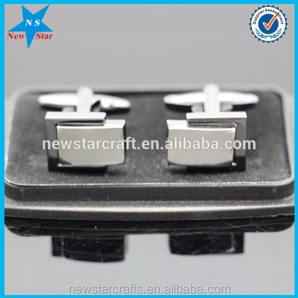 China Cheap Engraved Logo Cufflinks Blanks