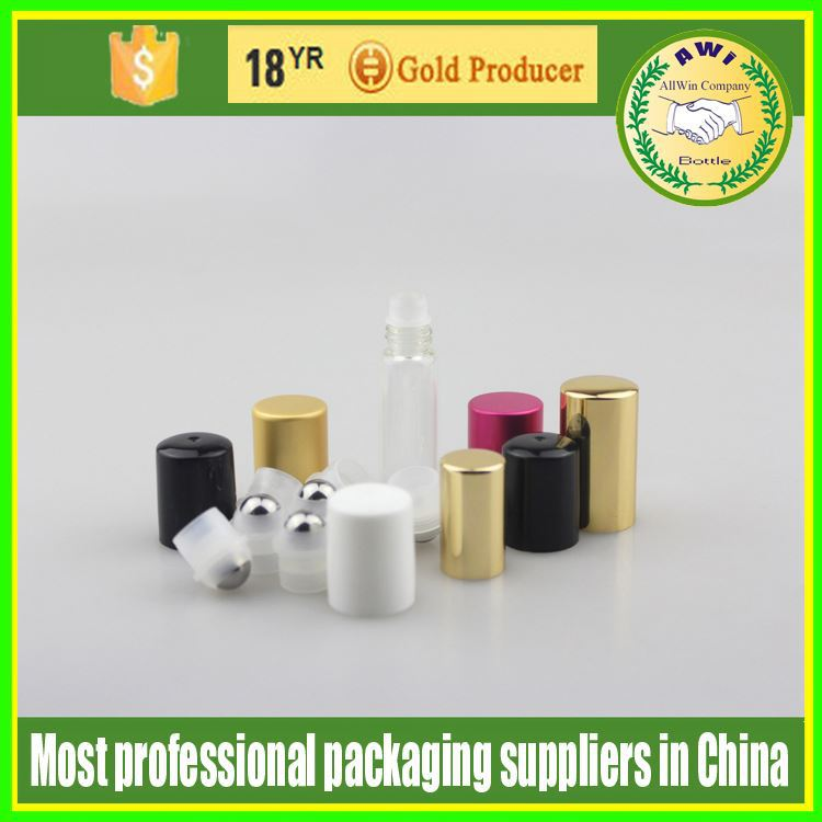 Wholesale 5ml glass Roll on Bottles Caps & Balls Homeopathic Use