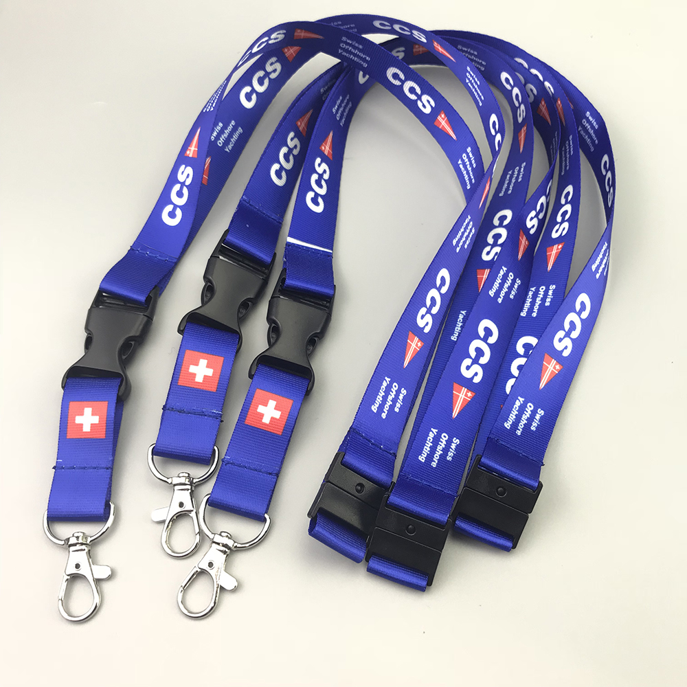 personalized logo cheap neck printed custom polyester lanyards with id card holder