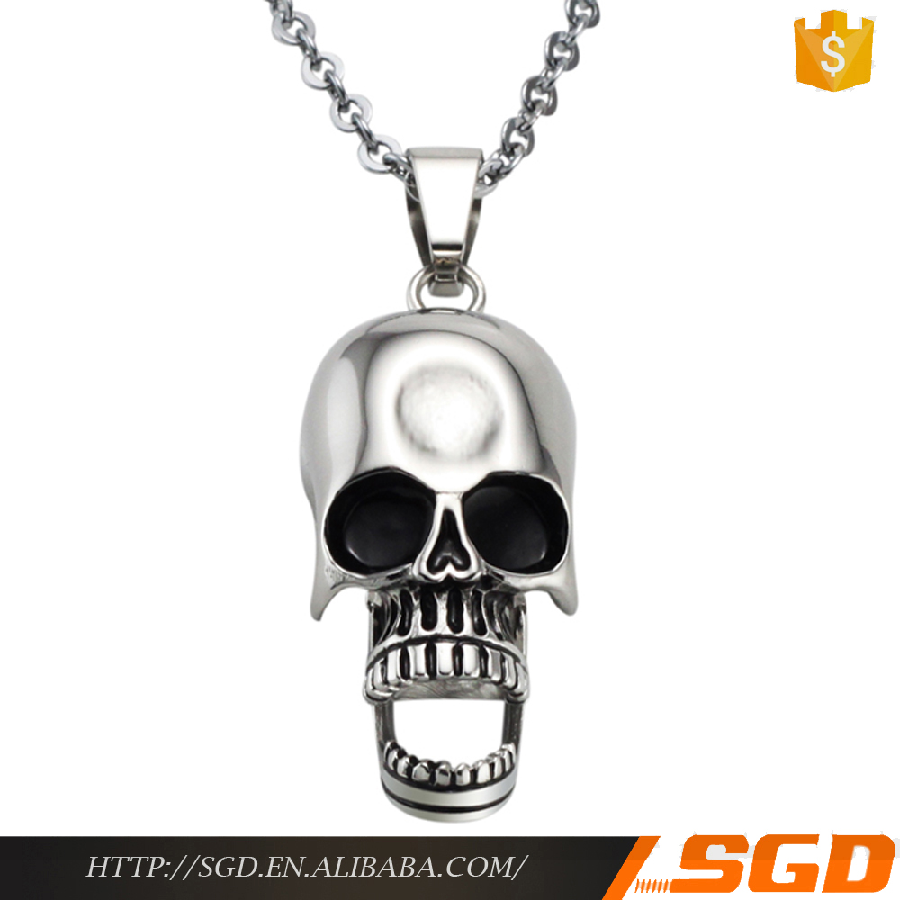 excellent good quality jewelry classic hand skull necklace jewelry reseller