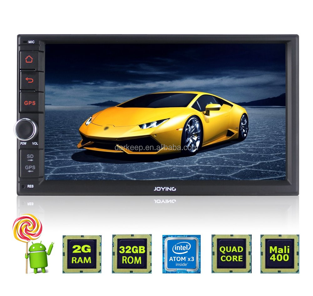 Double din touch screen car gps navigation for 7 inch Universal car with reversing camera