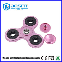 Foundry Price low noise color metal finger toy figet spinner for restless hands BS-TLO4C