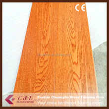 C&L prefinished American red Oak solid wood flooring