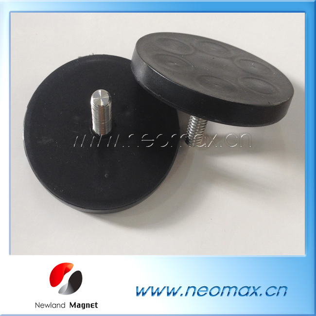 Rubber Coated NdFeB Magnet Pot Magnet For Taxi Roof Signs