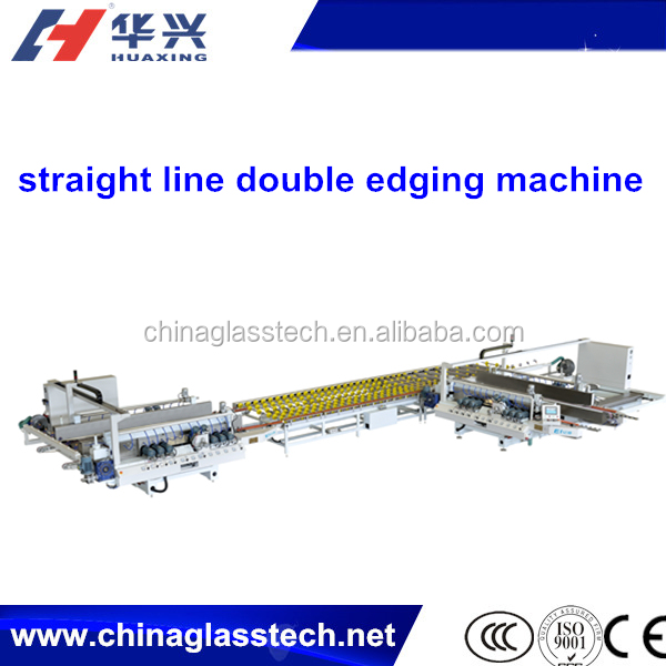 New Automatic Double Edge Flat Glass Straight Line Edging Machine