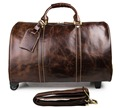 7077LQ J.M.D China Supplier Cow Leather Luggages Travel Bags With Trolley Sleeve