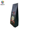 Custom printed aluminum foil side gusset degassing valve bags for 1kg coffee packaging
