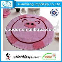 Wholesales pig design acrylic hand tufted baby play mat