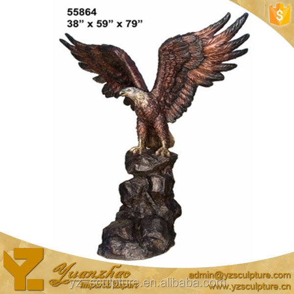 garden brass eagle open wings sculptures for decoration hot sale