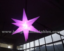 Colour change LED Inflatable Star hanging Lighting balloon