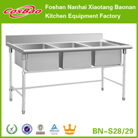 (BN-S28, BN-S29) Top Quality stainless steel sink table, stainless/commerical kitchen sink