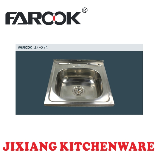 Russian single bowl stainless steel bathroom trough sink