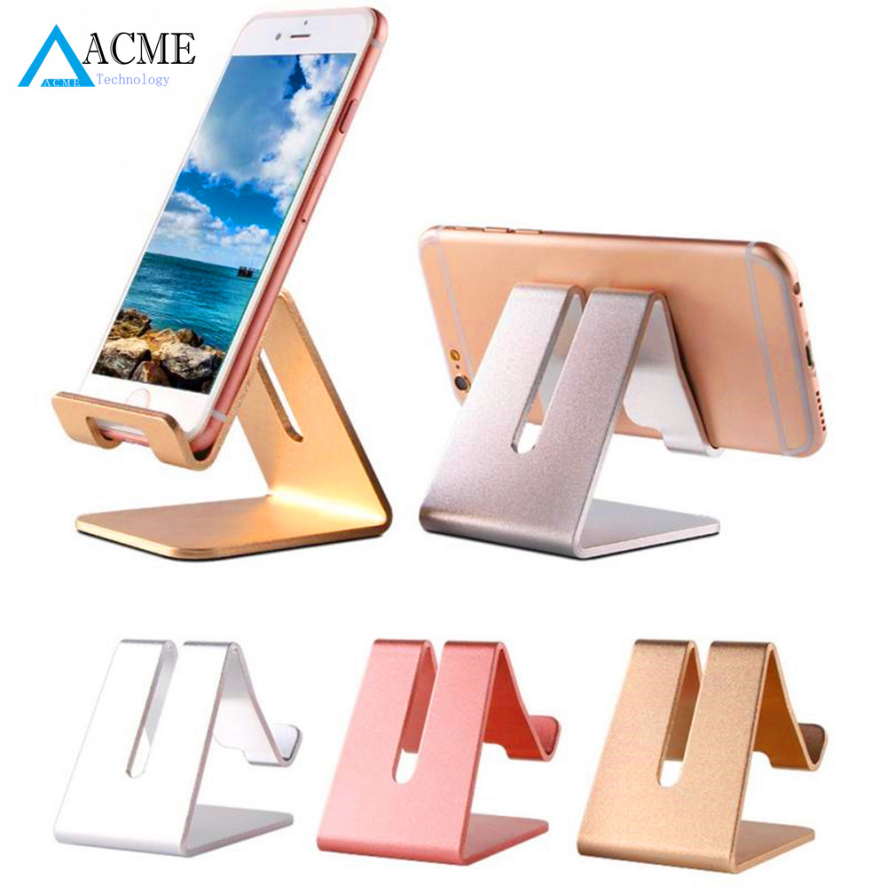 Universal Aluminum Metal Mobile Phone Tablet Desk Holder Stand for iPhone Ipad