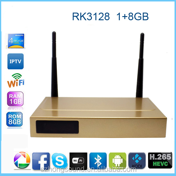 Best RK3128 Rockchip Android 4.4 kodi smart tv box