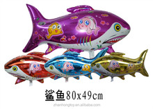 china factory 2014 hot selling new fish shape foil mylar balloons
