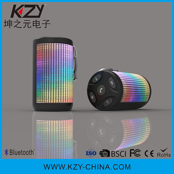 Low price high quality portable wireless bluetooth speaker with led light