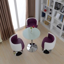 Modern glass eat desk and chair combination hotel coffee tables and chairs sitting room 3+ 1
