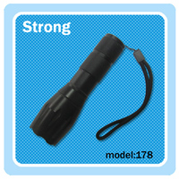 Telescopic lens torchlight high power rechargeable flashlight with 5 modes