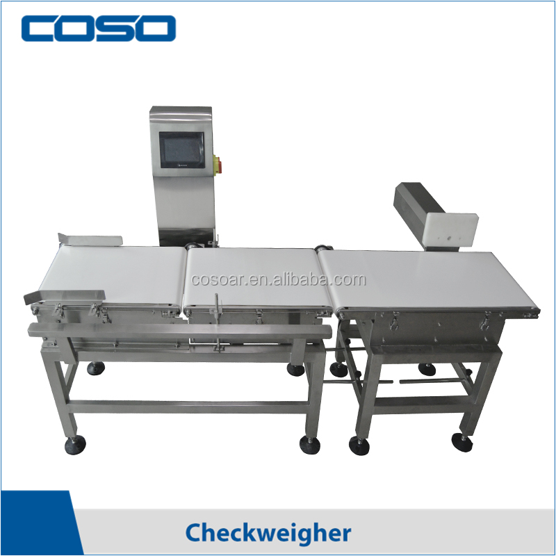 Accurate food checkweigher with reject system