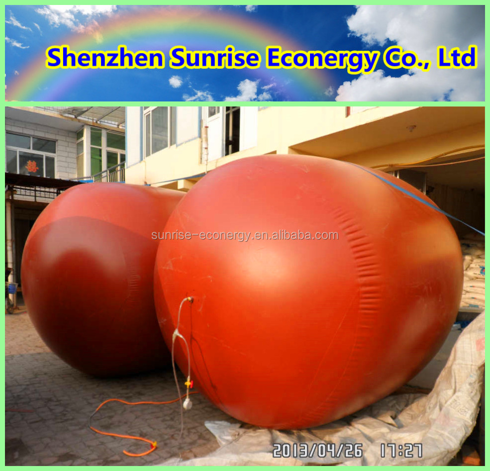 Sunrise econergy 3-100m3 PVC membrane anaerobic biogas digester for animal waste