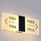 Acrylic Hotel Digital LED Light Electronic Door Plates Room Number Sign