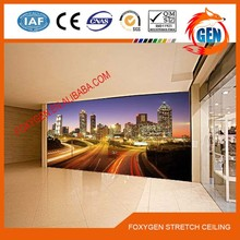 Pvc fireproof 3d light ceiling tile