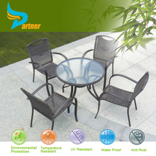 Five-piece outdoor furniture rattan chair coffee table courtyard garden terrace leisure furniture combination
