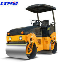 China construction machinery 3 ton full hydraulic double drum vibratory road roller