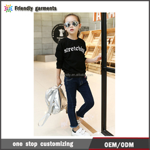 Word print pullover Kids Sports Style Hoodies Children Cotton Basic Tops for Wholesale hoodies for girl