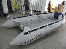CE approved aluminum floor inflatable boat and 4.3 m inflatable fishing boat with cheap price