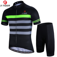 X-TIGER 2018 Men's Cycling Jersey Set Summer MTB Mountain Apparel Bike Short Sleeve 5D Bib Shorts Maillot Ciclismo <strong>Sportswear</strong>